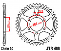 488-44 REAR SPROCKET CARBON STEEL