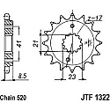 1322-15 FRONT SPROCKET CARBON STEEL