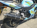 SUZUKI GSXR600, SRAD, RV,RY, (96-00) SILENCER ROAD WITH R/BAFFLE IN BRUSHED STAINLESS