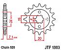 1903-14 FRONT SPROCKET CARBON STEEL