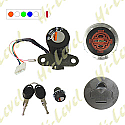 APRILIA RS125 (4 WIRES), PEGASO 650 IGNITION SWITCH LOCK SET