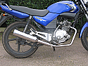 YAMAHA YBR125 RRB EXHAUST SYSTEM IN STAINLESS STEEL BY PREDATOR