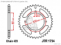 1794-45 REAR SPROCKET CARBON STEEL