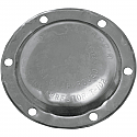 """HARLEY DAVIDSON END CAP CLOSED (FOR 4"""" DISCS) POLISHED STAINLESS STEEL"""