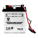 MOTORCYCLE BATTERY 6N6-1B BUDGET 6V