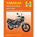 YAMAHA YBR125, YAMAHA XT125R, YAMAHA XT125X 2005-2009 WORKSHOP MANUAL