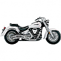 YAMAHA XV1600A ROAD STAR, XV1600A WILD STAR, XV1700A ROAD STAR, XV1700AM ROAD STAR MIDNIGHT 1999-2007 COBRA SPEEDSTER SWEPT EXHAUST CHROME