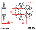704-16 FRONT SPROCKET CARBON STEEL