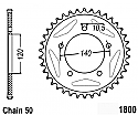 1800-40 REAR SPROCKET CARBON STEEL