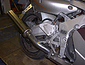 HONDA CBR400 RRL/W CBR400 GULL ARM DOWNPIPES & COL IN BRUSHED STAINLESS