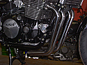 YAMAHA XJR1200, XJR1300, BIG BORE FRONT DOWNPIPES & COLL IN BRUSHED STAINLESS