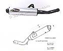 Suzuki GS500E 88-03 Silencer - Original Style - Black & Aluminuim