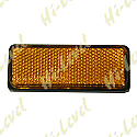 BOLT-ON REFLECTOR AMBER RECTANGLE BLACK RIM 85MM x 30MM