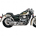 KAWASAKI VN-15, KAWASAKI VN1500A VULCAN 88, KAWASAKI VN1500L VULCAN 1987-1999 MUFFLER SLIP-ON WITH SLASH CUT TIP CHROME
