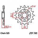 741-14 FRONT SPROCKET CARBON STEEL