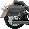 SADDLEMEN SADDLEBAG UNIVERSAL SYNTHETIC LEATHER BLACK - LARGE CLASSIC