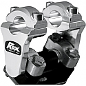 ROX SPEED FX 50.8 MM PIVOTING HANDLEBAR RISER FOR 22 MM BAR CLAMPS - ALUMINUM NATURAL