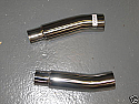 "KAWASAKI ZZR600 D 1990-93 SILENCER LINK PIPES PAIR 50.8mm (2"")"