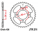 211-39 REAR SPROCKET CARBON STEEL