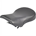 HARLEY DAVIDSON FLHR, FLTR SOLO PILLION PAD RENEGADE™ DELUXE SPORT REAR SADDLEHYDE™|SADDLEGEL™ PLAIN BLACK W/O STUDS