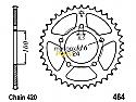 464-44 REAR SPROCKET CARBON STEEL