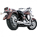 YAMAHA XV1600A ROAD STAR, XV1600A WILD STAR, XV1700A ROAD STAR, XV1700AM ROAD STAR MIDNIGHT 1999-2007 COBRA POWER HP PRO 2 INTO 1 EXHAUST SYSTEM CHROME
