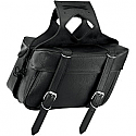 ALL AMERICAN RIDER SADDLEBAG SLANT LARGE BOX PLAIN BLACK (NO REAR POCKET)