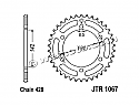 1067-52 REAR SPROCKET CARBON STEEL