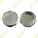MASTER CYLINDER CAP CHROME ALUMINIUM SCREW-ON HONDA LOGO
