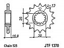1370-15 FRONT SPROCKET CARBON STEEL