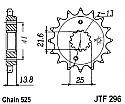 296-15 FRONT SPROCKET CARBON STEEL
