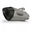 XT10 TITANIUM LOOK HEXAGONAL EXHAUST SILENCER 60MM OUTLET