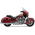"""INDIAN CHIEFTAIN 111 ABS, INDIAN CHIEFTAIN ABS DARK HORSE, INDIAN ROADMASTER 111 ABS 2014-2017 COBRA SLIP ON MUFFLER 4"""" CHROME WITH SCALLOP TIPS"""