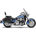 HONDA VTX1300N, HONDA VTX1300R, HONDA VTX1300S, HONDA VTX1300T 2002-2008 EXHAUST SYSTEM DRAGSTER 2 INTO 2 STRAIGHT-CUT CHROME