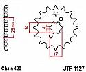 1127-14 FRONT SPROCKET CARBON STEEL