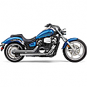 YAMAHA XVS1300C STRYKER, YAMAHA XVS1300C STRYKER BULLET COWL 2011-2017 EXHAUST SYSTEM DRAGSTER 2 INTO 2 STRAIGHT-CUT CHROME
