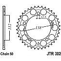 302-44 REAR SPROCKET CARBON STEEL