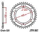 867-43 REAR SPROCKET CARBON STEEL