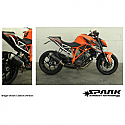 KTM SUPERDUKE 1290, KTM SUPERDUKE 1290R ABS, KTM SUPERDUKE 1290R ABS SE 2014-2016 FORCE SLIP-ON MUFFLER CARBON