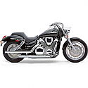 HONDA VTX1300C, HONDA VTX1300N, HONDA VTX1300R, HONDA VTX1300S, HONDA VTX1300T 2003-2009 EXHAUST SYSTEM DRAGSTER 2 INTO 2 STRAIGHT-CUT CHROME