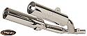 Yamaha TDM850 Silencers - Original Style - Chrome & Aluminium