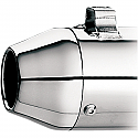 H/D FLT, FLHT, FLHR, FLTR TAPERED END CAP FOR SLIP-ONS/SYSTEM/SUPERTRAPP SE; CHROME