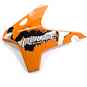 Tank Panel Left - Solid Orange With Mk2 Decals PULSE ADRENALINE 125