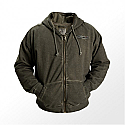 DELKEVIC Green Dirty Wash Zip Hoody