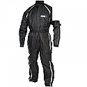 Tuzo One Piece Waterproof Rain Storm Suit Black LARGE