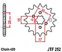 252-14 FRONT SPROCKET CARBON STEEL