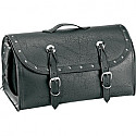 ALL AMERICAN RIDER RACK BAG TRAVELLER EXTRA LARGE RIVET CONCHOS BLACK