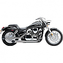 HONDA VTX1300C 2004-2009 SLIP ON WITH SLASH CUT TIP CHROME