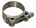 EXHAUST BANJO CLAMP STAINLESS STEEL 34mm - 37mm HEAVY DUTY