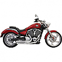 VICTORY BOARDWALK 106, CROSS COUNTRY 106, CROSS ROADS 106, GUNNER 106, HAMMER 106 8-BALL, HIGH BALL 106 2014-2015 EXHAUST PRO STREET CHROME